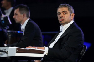 Mr Bean taking part in the Opening Ceremony of the London 2012 Olympic Games, July 27, 2012 in London, England. (Photo by Cameron Spencer/Getty Images)